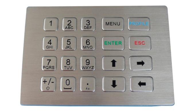 Disponemos de una familia de teclado numérico inoxcon 12, 16, 20, 24 y 28 teclas. Fabricada en acero inoxidable que lo