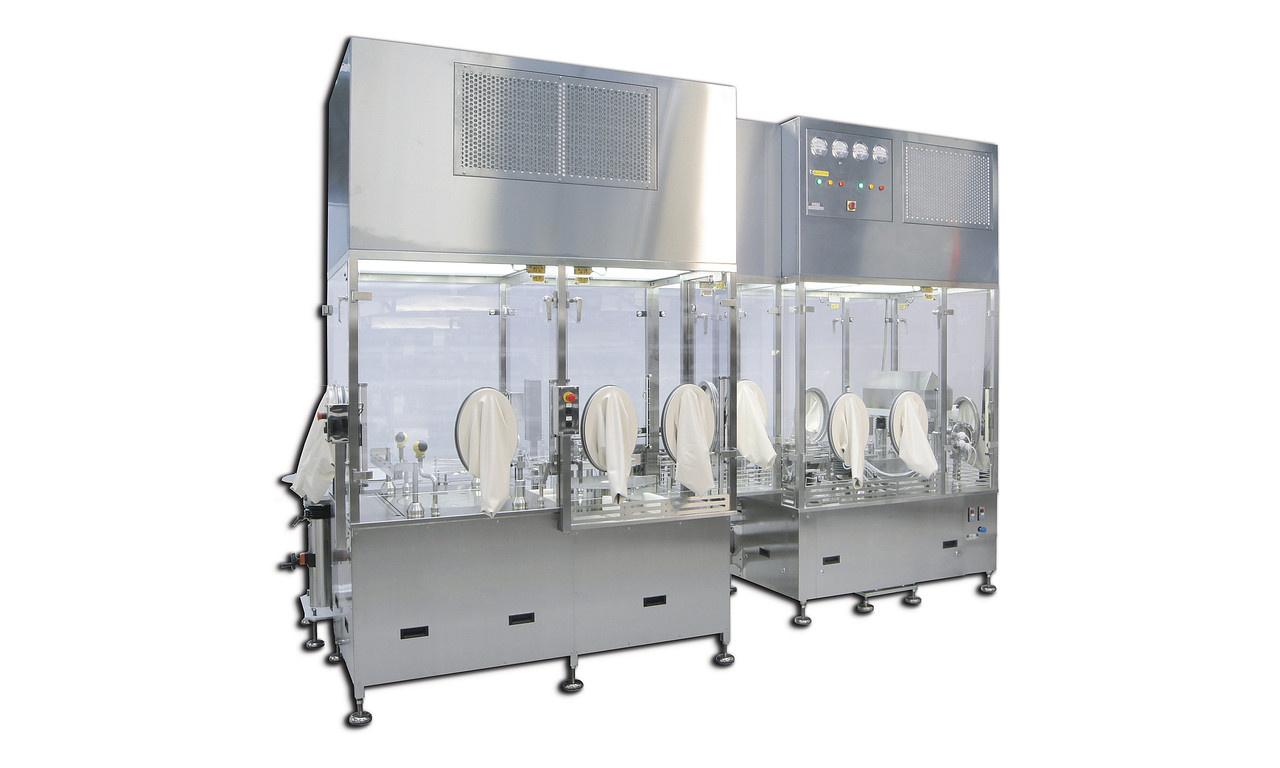 1-bahnige ZuführungFür den aseptischen Einsatzbereich Dosiersystem: Rotationskolben System, Peristaltikpumpen System, Ze