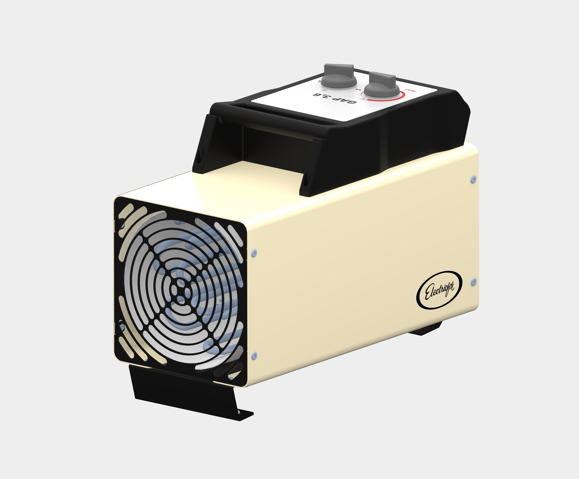 New Mobile Air Heater with an Electric Heating Element