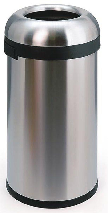 OPEN TOP, große EinwurföffnungHochwertige Abfallbehälter aus Edelstahl mit außergewöhnlichem, funktionalem Design. Extre
