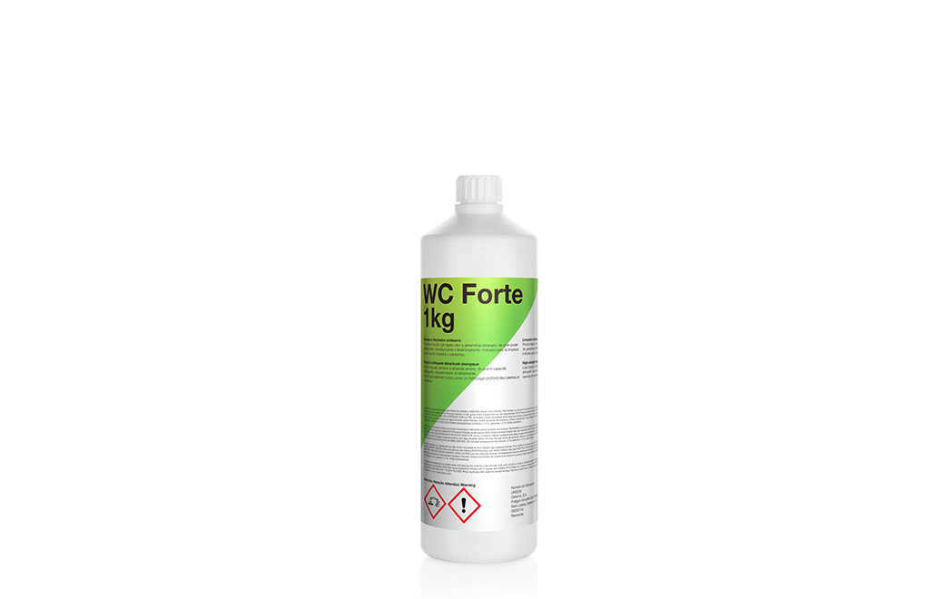 WC Forte, enérgico limpiador antisarro.