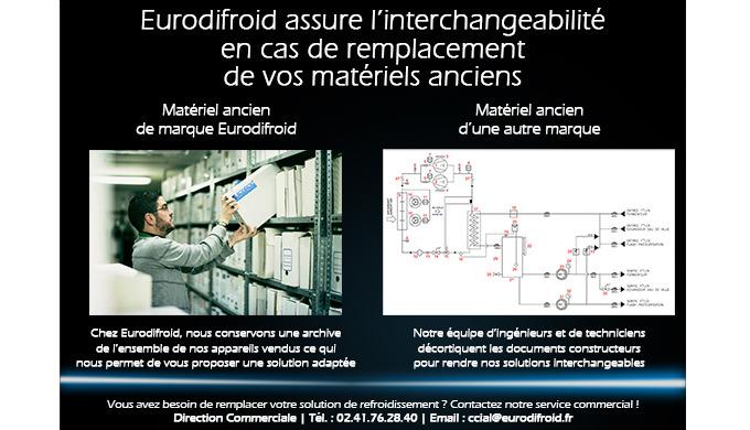 Eurodifroid assure l'interchangeabilité en cas de remplacement de matériels anciens
