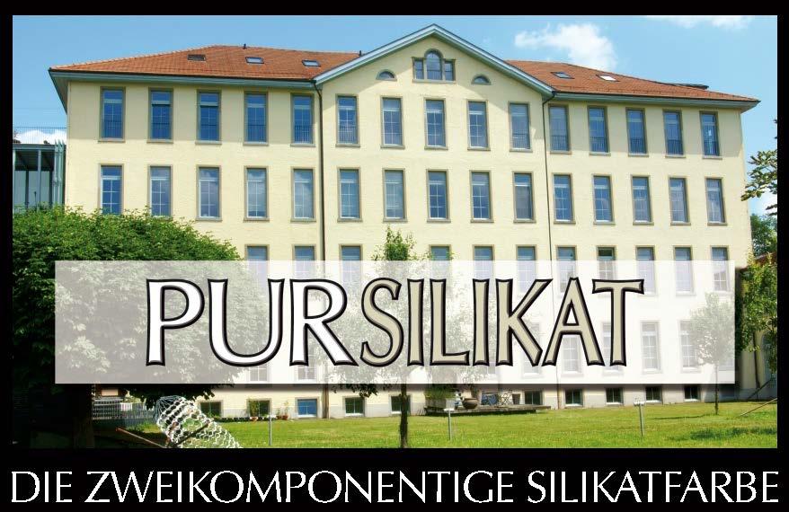 Pursilikat  -  reine 2K-Silikatfassadenfarbe / Fixativ + Mineralfarbpulver)