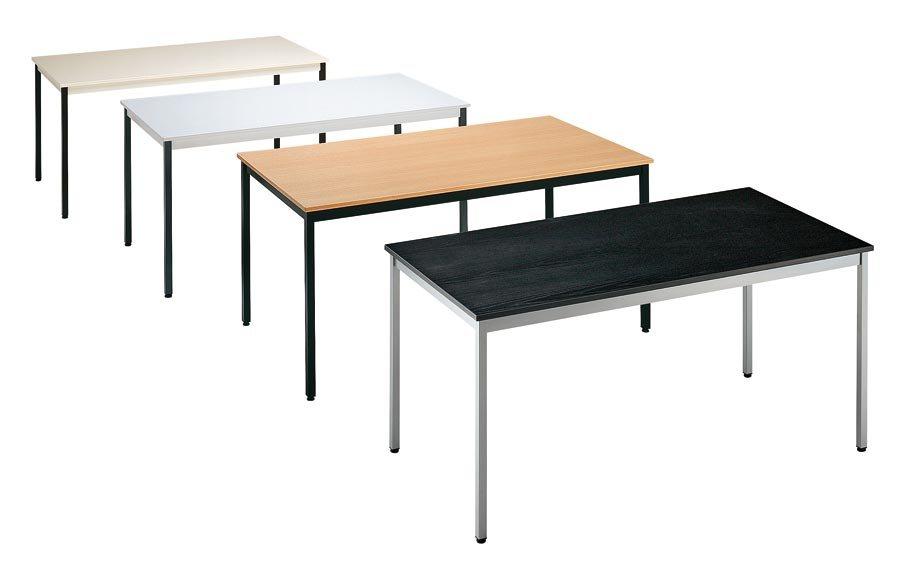 div. Modelle und Farben Tischplatte melaminharzbeschichtet, 19 mm stark, mit 3 mm starker ABS-Kante. Gestell aus Vierkan