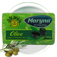 MARYNA 160 GR GLYCERINE SOAP ​1X48 PCS IN A CARTON BOX NET KG: 7,68 GROSS KG: 7,9