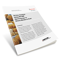 Applikationsbericht: At-Line-Spurenelementanalyse in der Lebensmittelproduktion mithilfe der ED-RFA- Spektrometrie