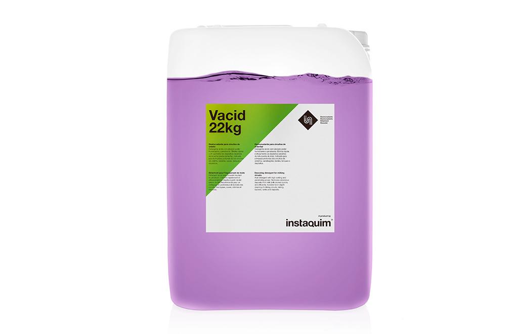 Vacid, ácido líquido limpiador y antisarro para el material de ordeño.
