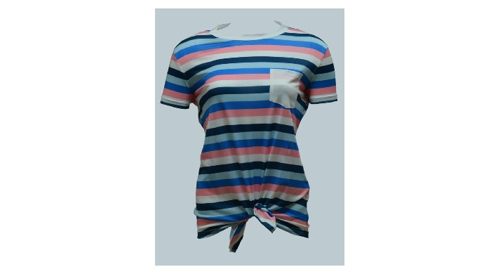 Ladies Tee with front Knot, All over Print