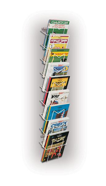 Possibilité de présenter des documents ou revues de grand format Utilisation murale pour la présentation de BD, de magaz