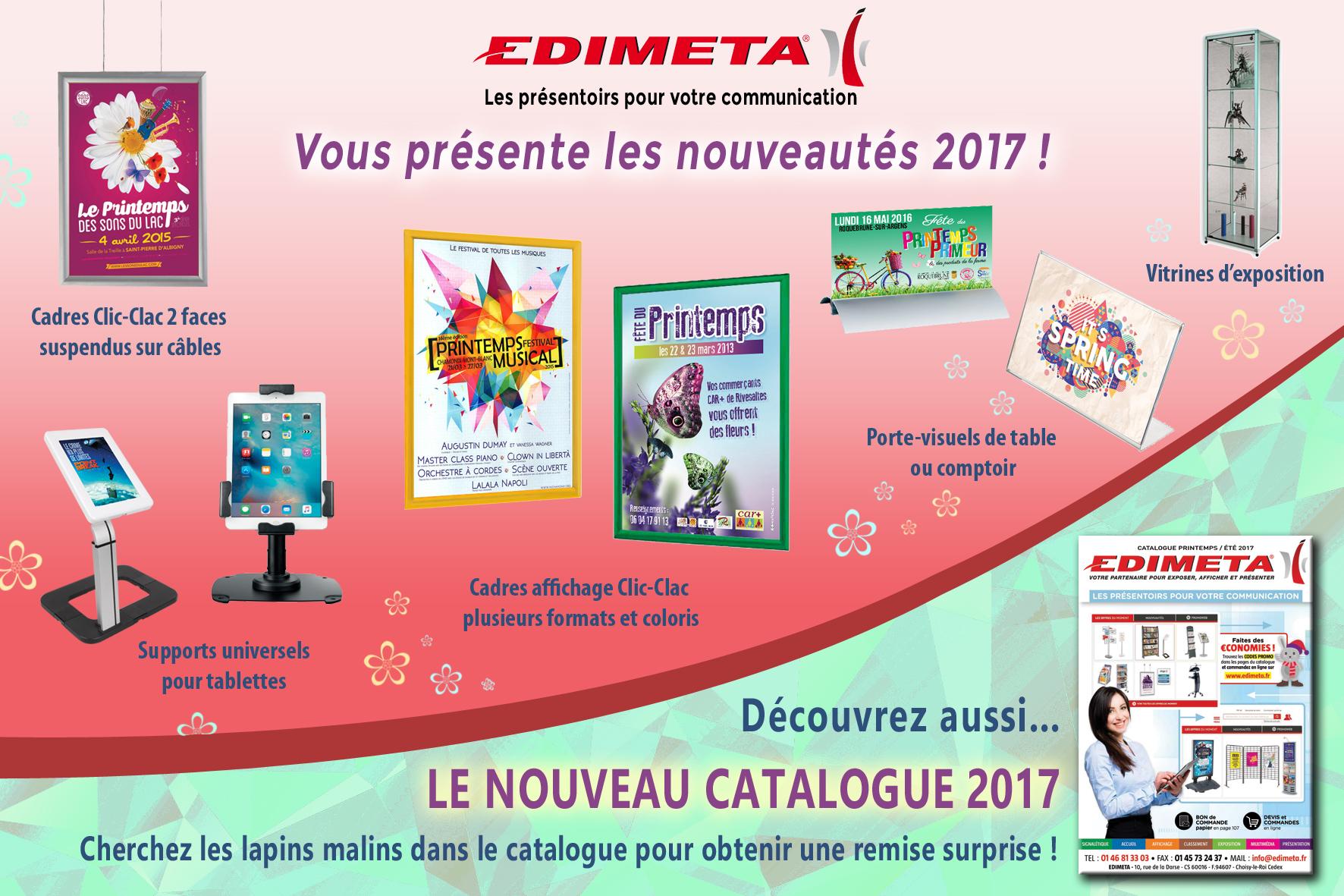 EDIMETA vous présente les nouveautés 2017