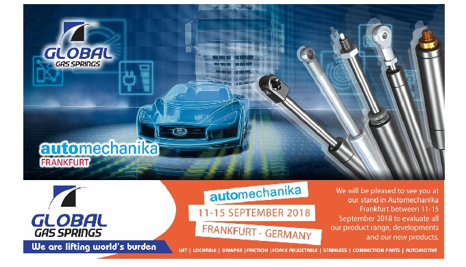 Visit us at Automechanika Frankfurt between 11-15 September 2018.