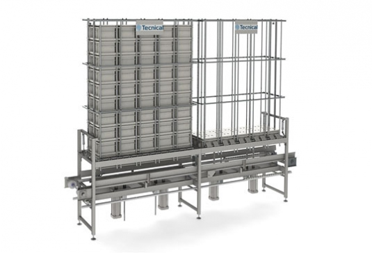 Equipo concebido para almacenar multimoldes de forma totalmente automatizada y coordinada con la línea de producción.