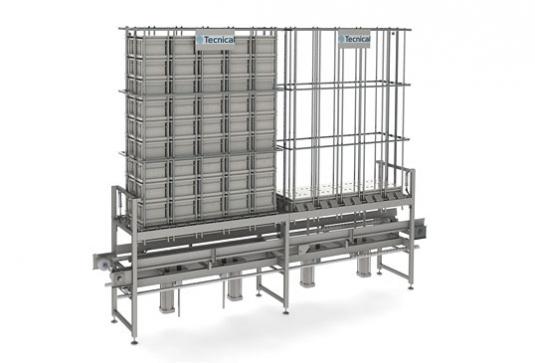 Acumulador vertical para multimoldes