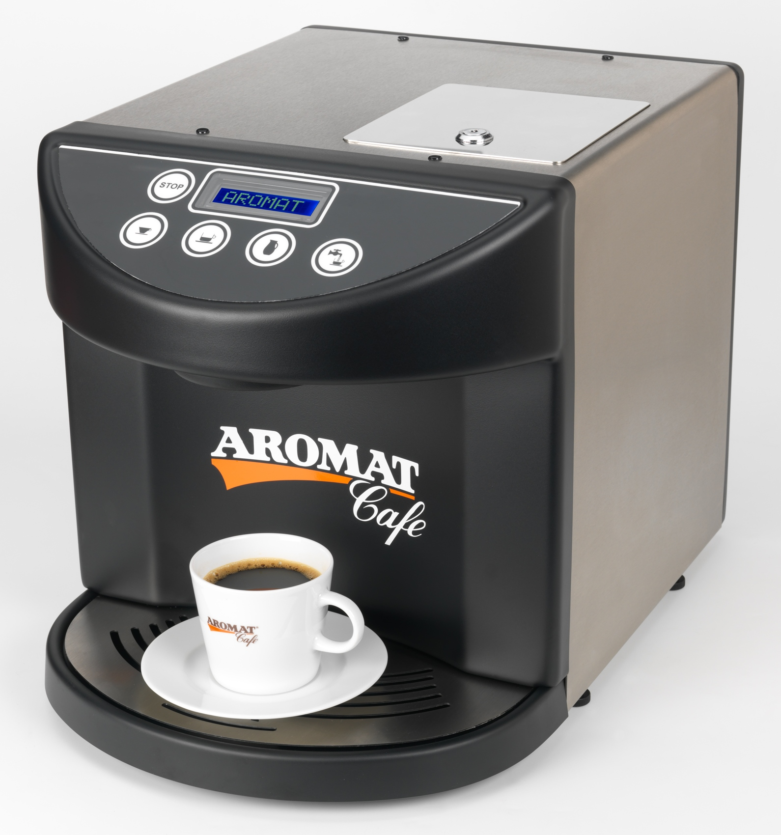 The AROMAT OLC1 is a commercial liquid coffee machine which is using the AROMAT liquid coffee concentrates. It is compac
