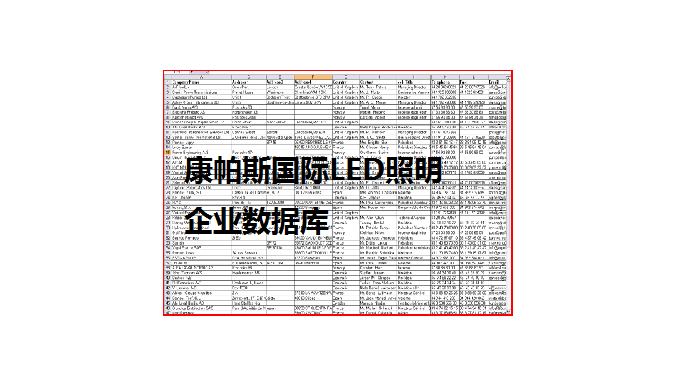 一、 数量统计 国外企业数据企业数量(家) 1、主要LED照明制造商分销商16115 2、主要照明工程设计、施工商5009 合计:21124  二、 各目标群的国家地区分布、相关的康帕斯产品服务分类和决策人职能 1、