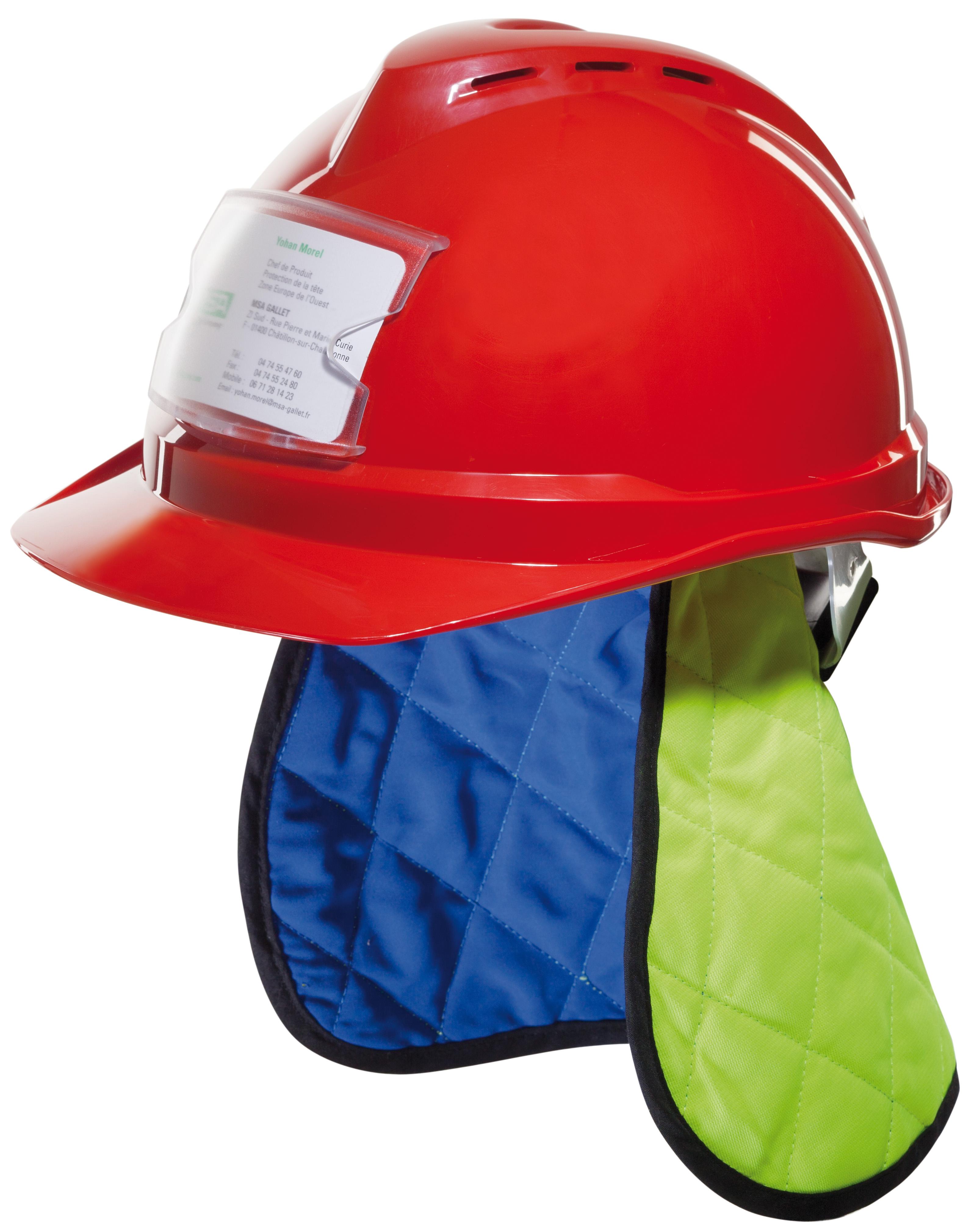 MSA offre deux accessoires de protection contre la chaleur à intégrer dans les casques de chantier V-Gard. la technologi