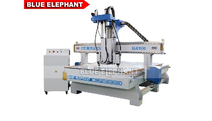 ELECNC-1530 Three Processes Multi Head CNC Router Machinery for Wooden Furniture