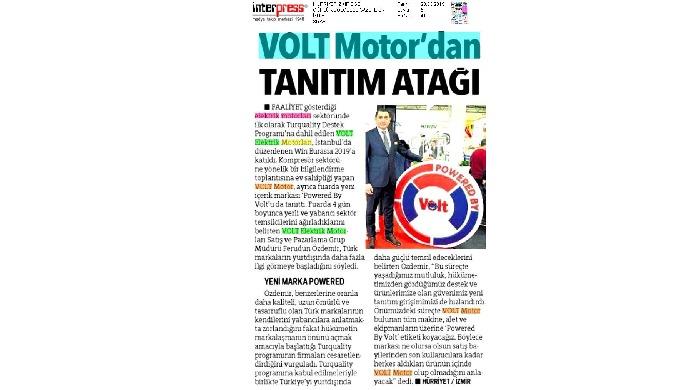 """VOLT MOTOR'DAN TANITIM ATAĞI TURQUALİTY'DEN SONRA ŞİMDİ DE """"POWERED BY VOLT"""" ATAĞI DÜNYA, GÜCÜNÜ VOLT'TAN ALACAK"""