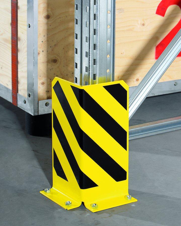 L-Form, inkl. Bodenanker Rammschutz nach Sicherheitsvorschrift BGR 234 Für ortsfeste Regale in Verbindung mit Flurförder