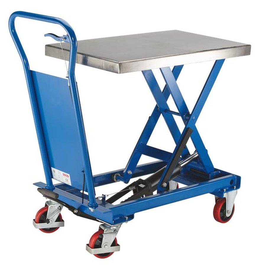 Tragfähigkeit 250 kgAnheben durch Pumppedal, stufenlose Handgriffabsenkung. Langlebige und ausgereifte Geräte. Servicefr