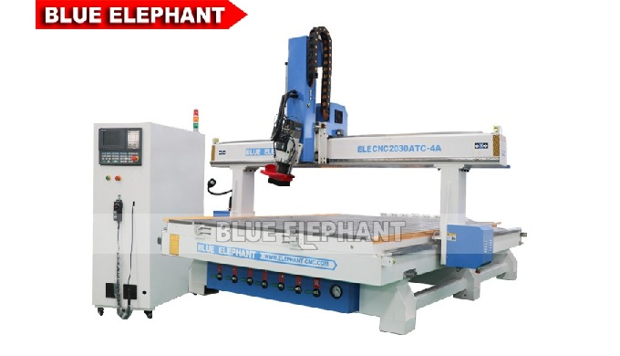 ELECNC-2030 4 Axis Linear ATC CNC Wood Cutting Machine