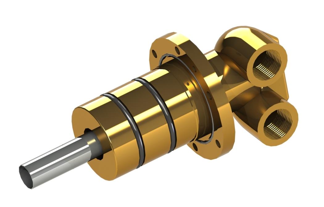 Universal-Drehdurchführung für Stranggussanlagen Produkteigenschaften: Einfache Zu- oder Ableitung oder kombinierte Zu-