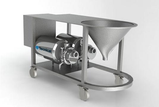 Equipo mezclador-homogenizador de polvos con líquidos muy versátil. Esta instalación universal está diseñada para disolv
