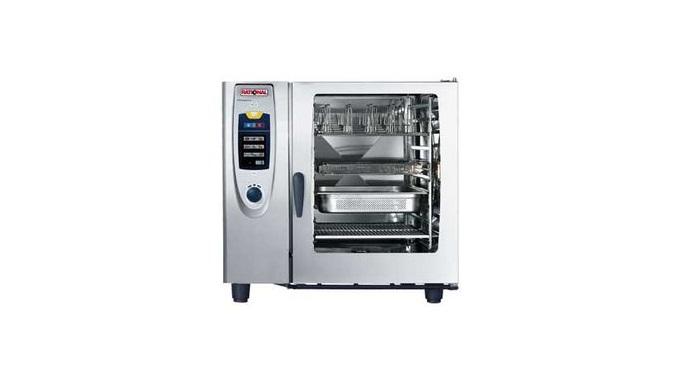 Данный пароконвектомат SCC 102 производства RATIONAL подходит для разных способов приготовления блюд – тушения, варки и
