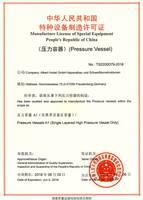 Albert Hodel GmbH erhält Druckbehälterlizenz für den chinesischen Markt