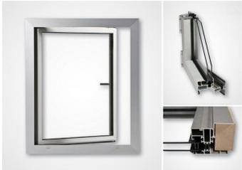 Aluminiumfönster IF65 med bruten köldbrygga