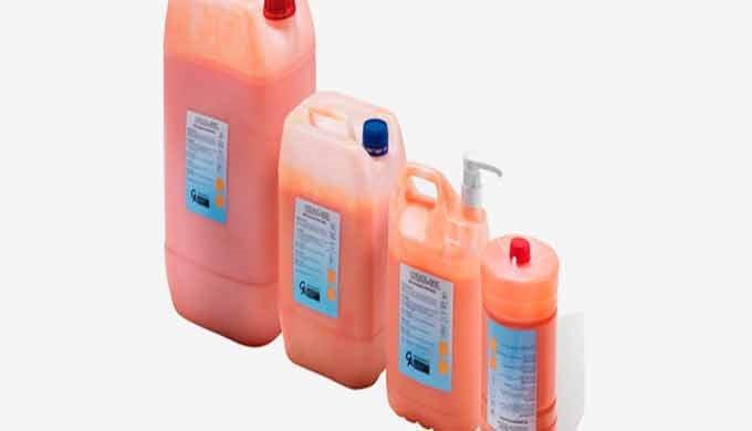 Productos desengrasantes especialmente formulados para la limpieza de las manos del operario con suciedad de cualquier t