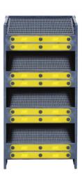 El sistema de filtración SAAF Cassette consta de múltiples cassettes individuales de poliestireno de alto impacto, lo qu