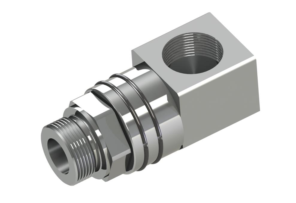 """Kompakte Ausführung mit Gewindeausflüsse, Nennweiten G1/4"""" - G1 1/2"""" Produkteigenschaften: Stahl (42CrMo4) oder Edelstah"""