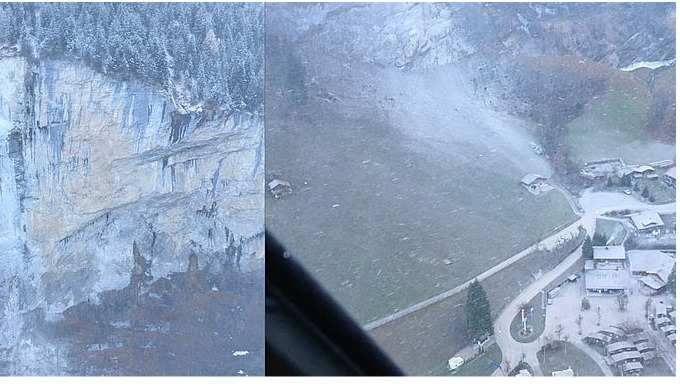 Felssturz Mürrenfluh, Lauterbrunnen: Die GEOTEST AG hilft in der Gemeinde Lauterbrunnen bei der Ereignisbewältigung