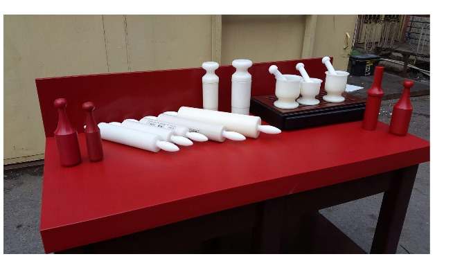 All kinds Home and Industrial Kitchen Utensils from PE (Polyethylene) is available. PE tables, dough roller, rolling pin