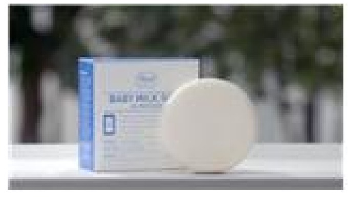 Rod Baby Milk Soap is a weakly acidic soap that contains natural moisturizing ingredients such as milk powder to protect