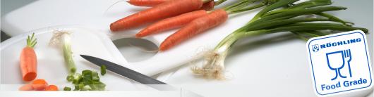 Plasty určené pro přímý styk s potravinami Röchling nabízí Široké spektrum standardních plastů až po vysokoteplotní plas