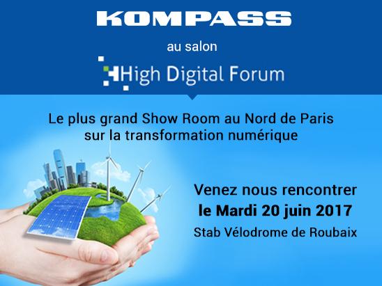 Kompass sur le salon High Digital de Roubaix - 20 juin 2017
