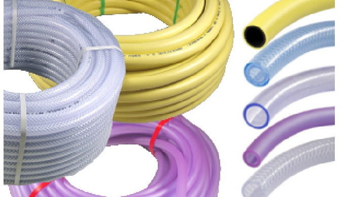 The industrial braided hose made of PVC