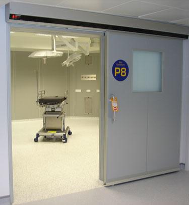 Puerta corredera hermética sanitaria TH7 para quirófanos