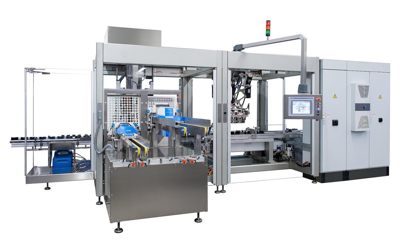 Behältnisse:- Behältniseinteilung mittels Zellenrad - Behältniseinteilung über Einlaufschnecke - Behältnistransport mitt