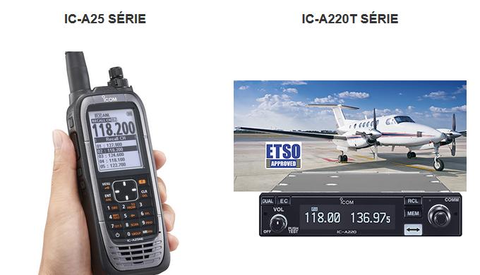Gamme de VHF aviation conformes à la réglementation 8,33 kHz