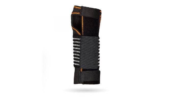 Muñequera de tejido suave elástico con férula palmar extraíble y moldeable. FUNCIÓN Inmovilización de la articulación ca