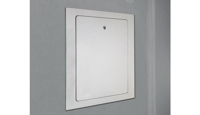 Trappes MDF monobloc EI30 34 dB Rw+C « Pose après coup » hydrofuge et prépeinte: • Trappe monobloc MDF • Cadre 4 côtés