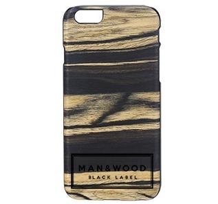 el iphone 6 real de madera cubiertas del teléfono(Black Label/Etiqueta)