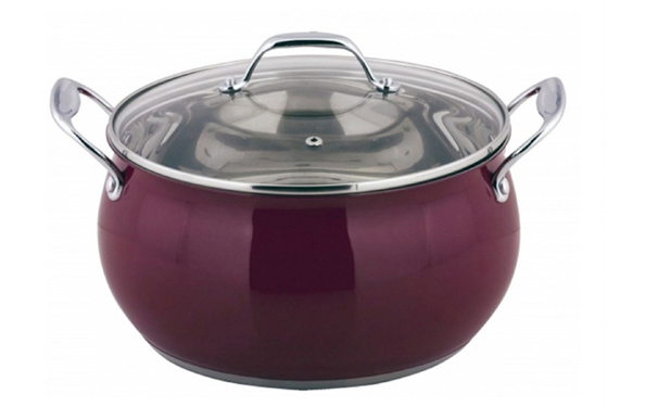 Red colour outside  stainless steel casserole JLKP-8