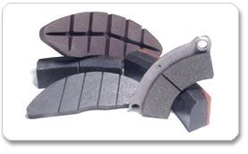 Kvalitní brzdové špalky a brzdové desky, brzdové obložení pro kolejová vozidla