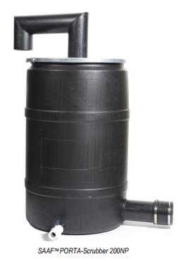 El SAAF PORTA Scrubber, es una unidad portátil disponible motorizada o no motorizada. Ideal para una amplia variedad de