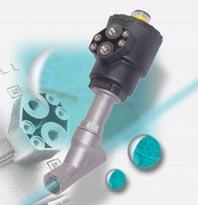 Šikmý ventil z nerezi s pneumatickým ovládáním
