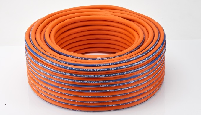 PVC GAS HOSE WITH STEEL WIRE REINFORCED